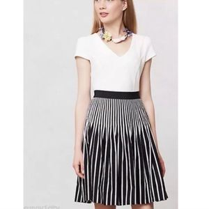 Anthro | Maeve Remy skirt black white mini